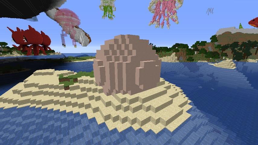 Minecrafterししゃもがマインクラフトでぷっこ村に生息するイエガメの生態を解説する2
