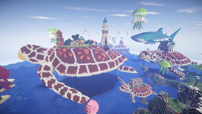 Minecrafterししゃもがマインクラフトでぷっこ村に生息するイエガメの生態を解説する15