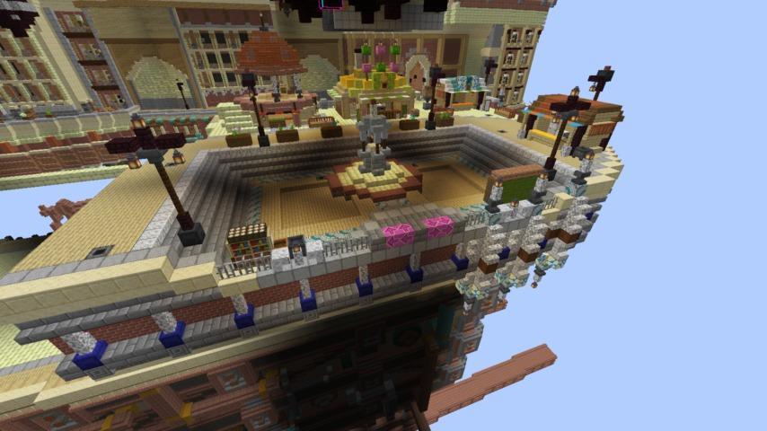 Minecrafterししゃもがマインクラフトでぷっこ村のプコサヴィルの駅を作る1