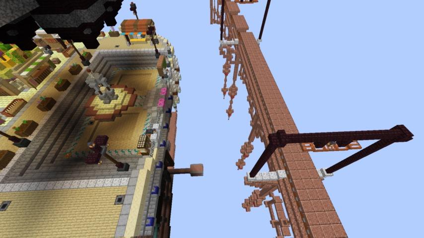 Minecrafterししゃもがマインクラフトでぷっこ村のプコサヴィルの駅を作る2