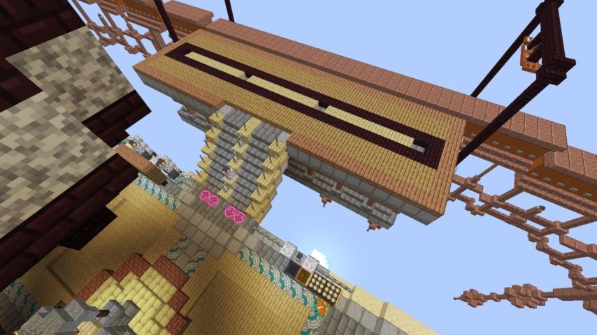Minecrafterししゃもがマインクラフトでぷっこ村のプコサヴィルの駅を作る3
