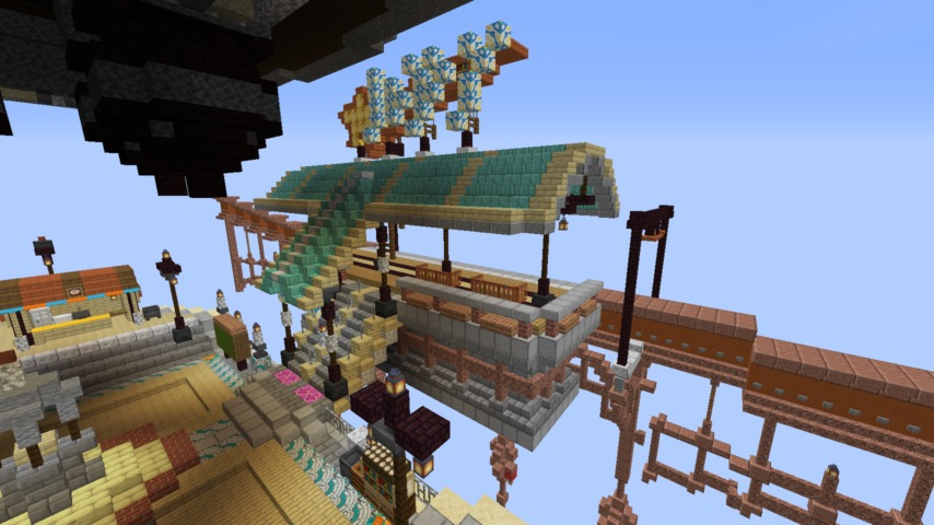 Minecrafterししゃもがマインクラフトでぷっこ村のプコサヴィルの駅を作る4