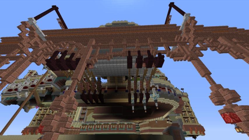 Minecrafterししゃもがマインクラフトでぷっこ村のプコサヴィルの駅を作る6