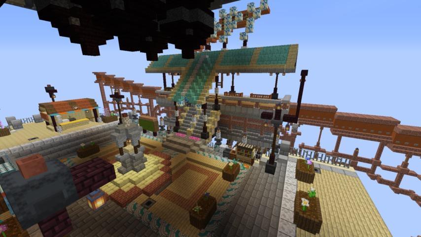Minecrafterししゃもがマインクラフトでぷっこ村のプコサヴィルの駅を作る5