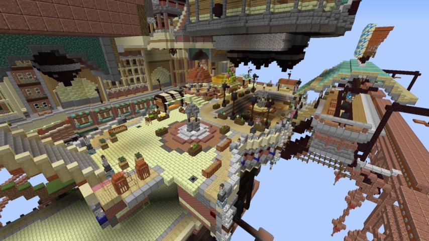 Minecrafterししゃもがマインクラフトでぷっこ村のプコサヴィルの駅を作る9
