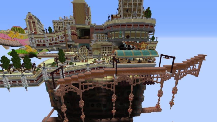 Minecrafterししゃもがマインクラフトでぷっこ村のプコサヴィルの駅を作る7