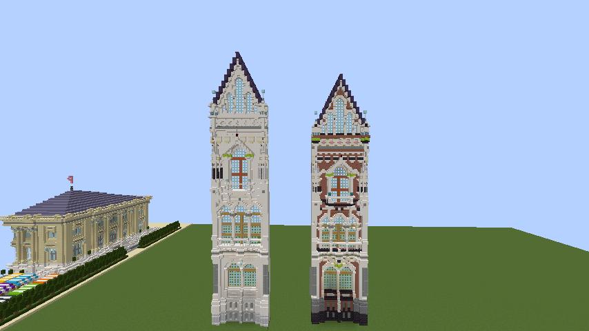 Minecrafterししゃもがマインクラフトでぷっこ村に魔法学校を建築してみる1