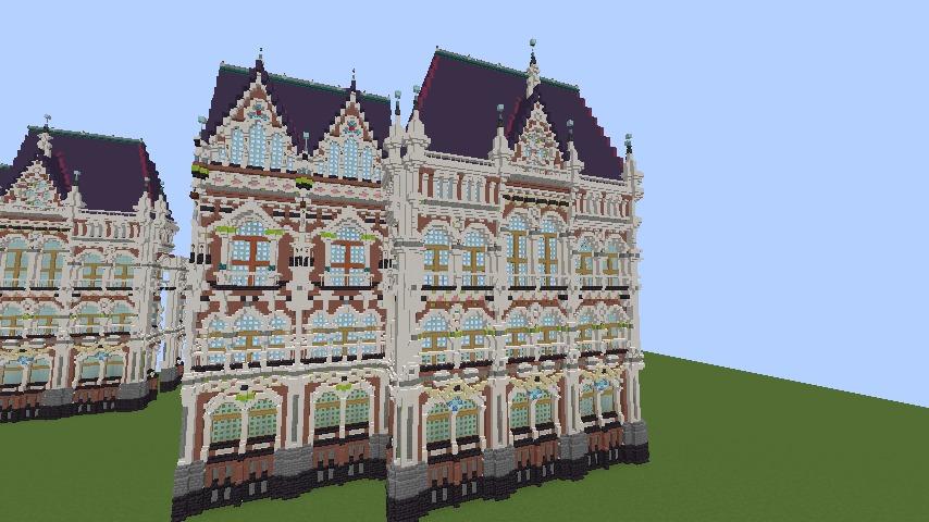 Minecrafterししゃもがマインクラフトでぷっこ村に魔法学校を建築してみる2