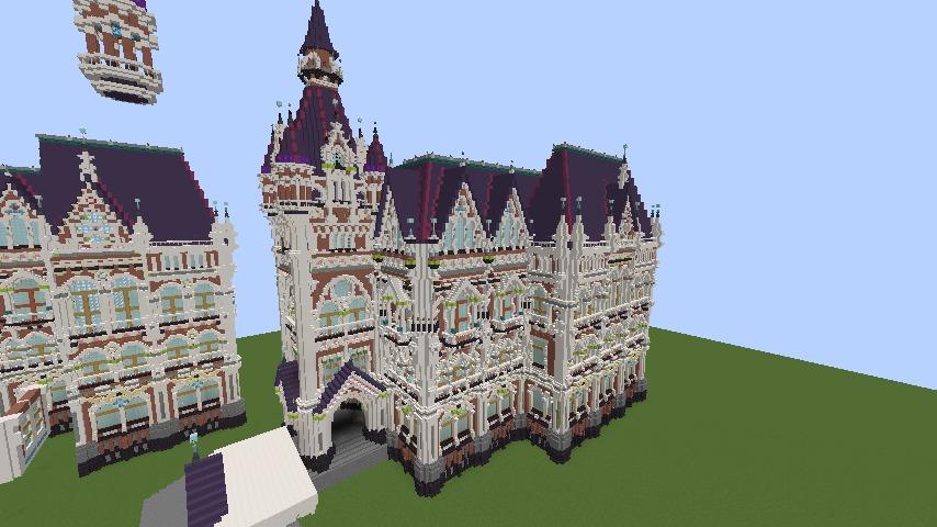 Minecrafterししゃもがマインクラフトでぷっこ村に魔法学校を建築してみる3