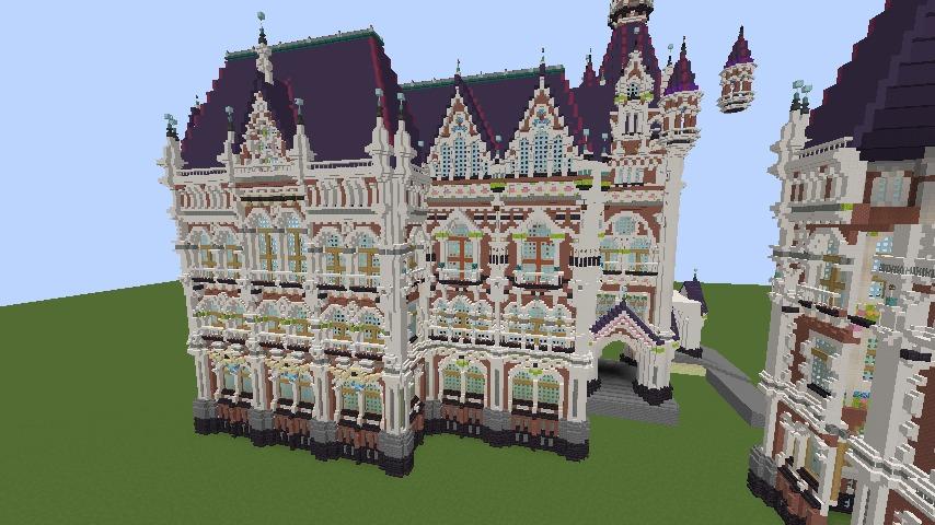 Minecrafterししゃもがマインクラフトでぷっこ村に魔法学校を建築してみる4