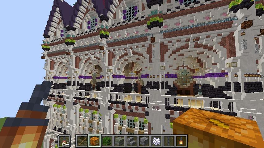 Minecrafterししゃもがマインクラフトでぷっこ村に魔法学校を建築してみる6