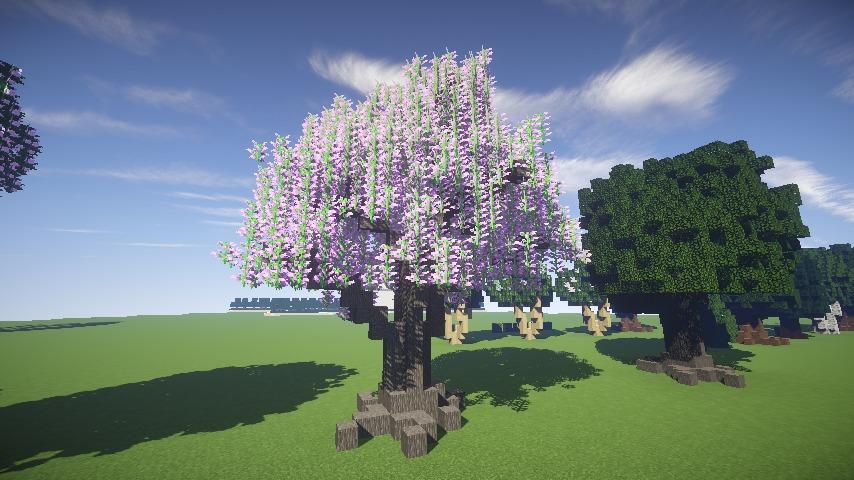 Minecrafterししゃもがマインクラフトでぷっこ村の樹木を生まれ変わらせる6