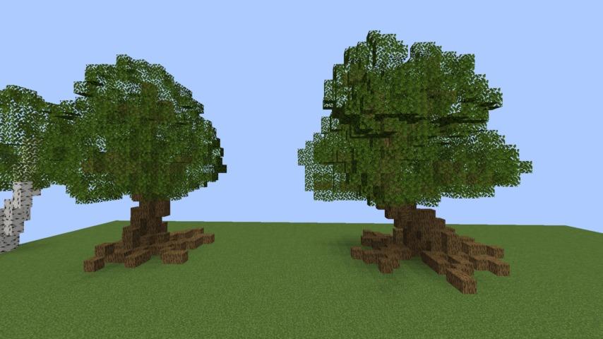 Minecrafterししゃもがマインクラフトでぷっこ村の樹木を生まれ変わらせる1