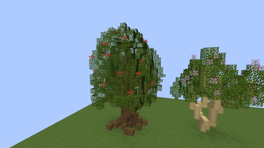 Minecrafterししゃもがマインクラフトでぷっこ村の樹木を生まれ変わらせる3