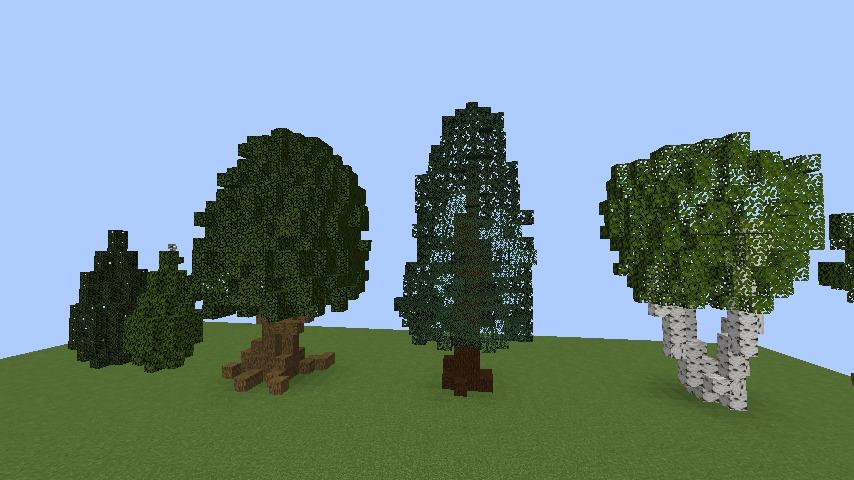 Minecrafterししゃもがマインクラフトでぷっこ村の樹木を生まれ変わらせる2