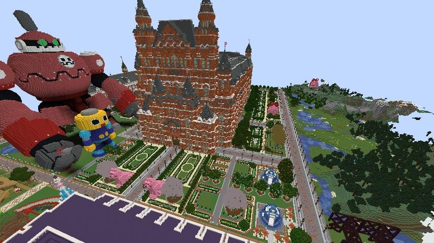 Minecrafterししゃもがマインクラフトでぷっこ村長別邸の庭園を作ってみる2