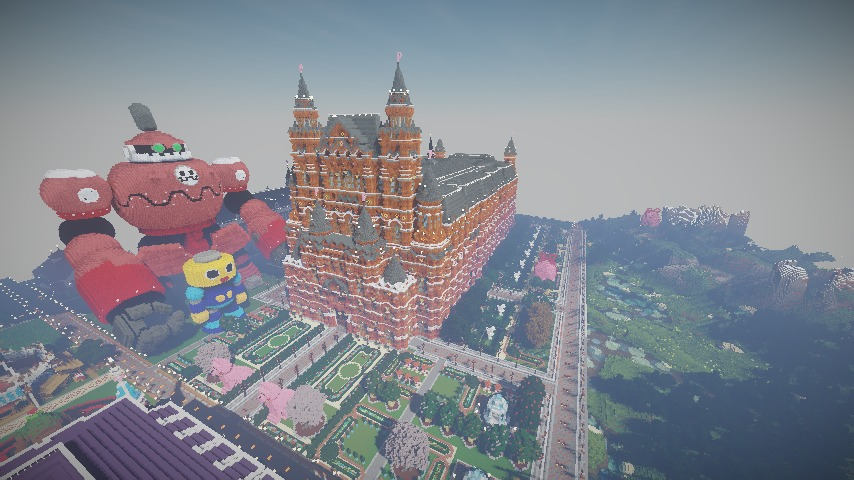 Minecrafterししゃもがマインクラフトでぷっこ村長別邸の庭園を作ってみる10