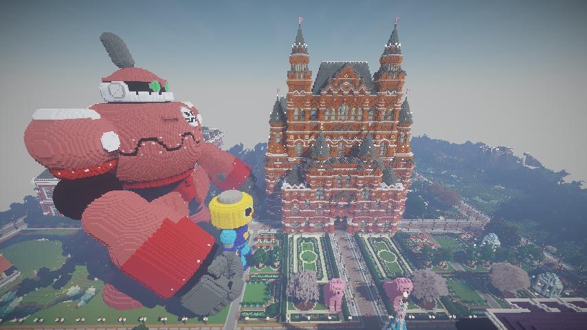 Minecrafterししゃもがマインクラフトでぷっこ村長別邸の庭園を作ってみる9