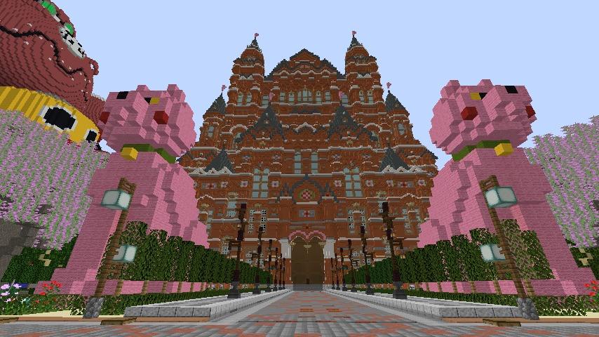 Minecrafterししゃもがマインクラフトでぷっこ村長別邸の庭園を作ってみる3