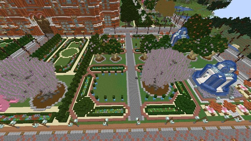 Minecrafterししゃもがマインクラフトでぷっこ村長別邸の庭園を作ってみる4