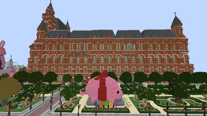Minecrafterししゃもがマインクラフトでぷっこ村長別邸の庭園を作ってみる5