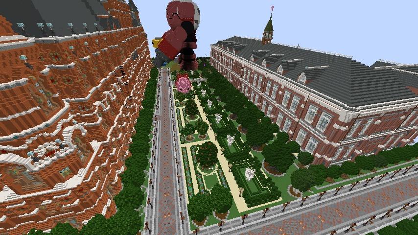 Minecrafterししゃもがマインクラフトでぷっこ村長別邸の庭園を作ってみる8