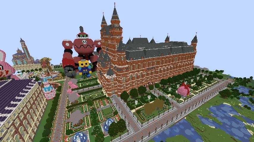 Minecrafterししゃもがマインクラフトでぷっこ村長別邸の庭園を作ってみる1