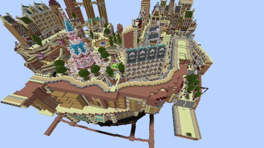 Minecrafterししゃもがマインクラフトでぷっこ村にあるプコサヴィルの外殻の続きを作る2