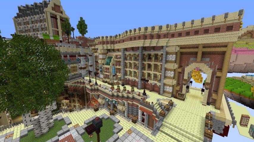 Minecrafterししゃもがマインクラフトでぷっこ村にあるプコサヴィルの外殻の続きを作る4