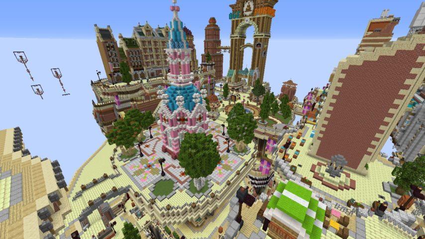 Minecrafterししゃもがマインクラフトでぷっこ村にあるプコサヴィルの外殻の続きを作る6