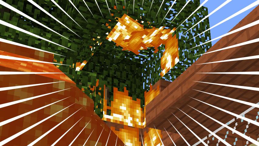 Minecrafterししゃもがマインクラフトでぷっこ村にウネウネした噴水を作る3
