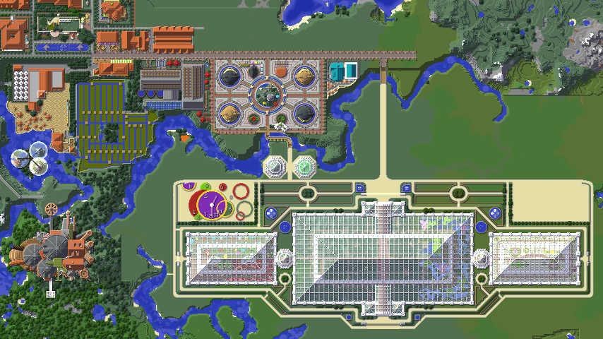 Minecrafterししゃもがマインクラフトでぷっこ村に植物園をつくる3