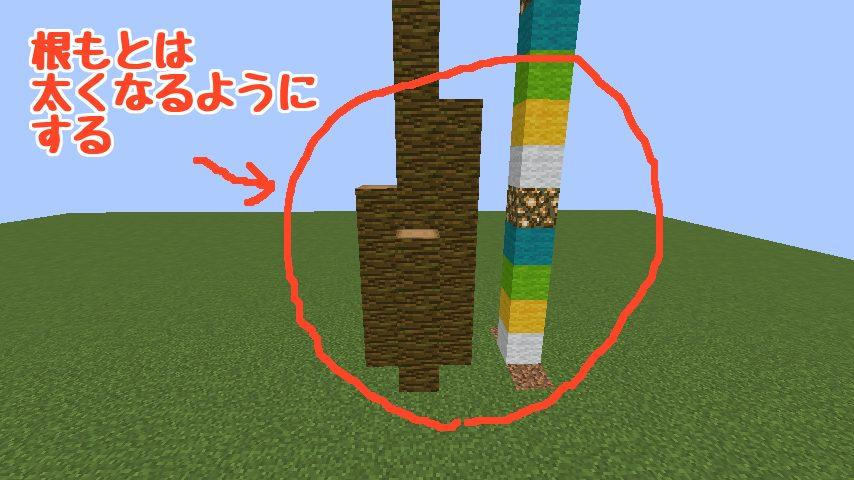 うきうきさんとにゃろりくんが簡単なのにリアルなヤシの木のつくり方を紹介する4