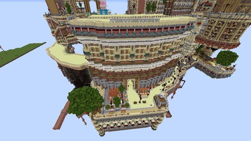 Minecrafterししゃもがマインクラフトでぷっこ村の空中都市プコサヴィルの南駅を作るよ6