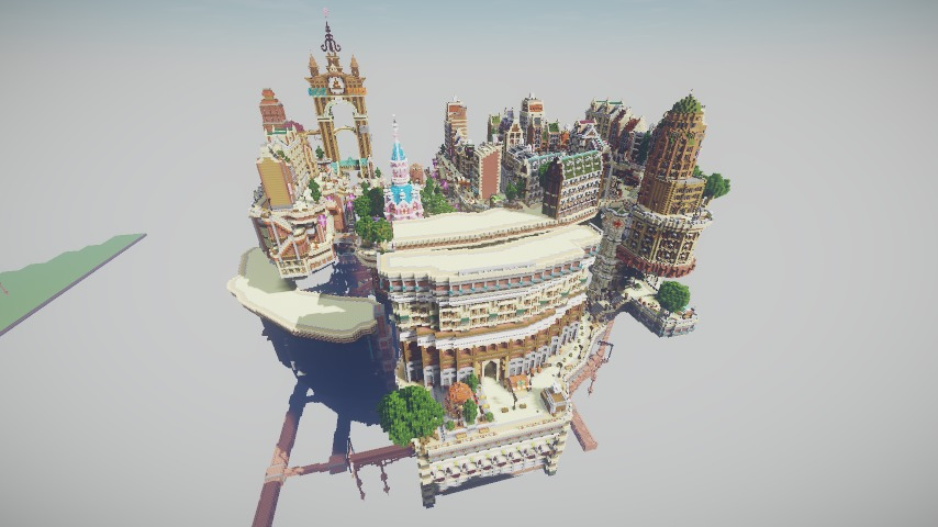 Minecrafterししゃもがマインクラフトでぷっこ村の空中都市プコサヴィルの南駅を作るよ10