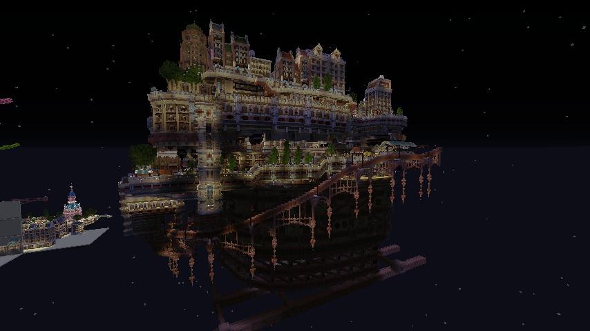 Minecrafterししゃもがマインクラフトでぷっこ村の空中都市プコサヴィルの南駅を作るよ9