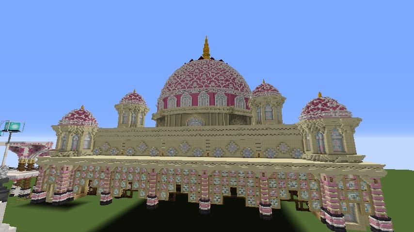 Minecrafterししゃもがマインクラフトでぷっこ村にピンクのモスクを作る1