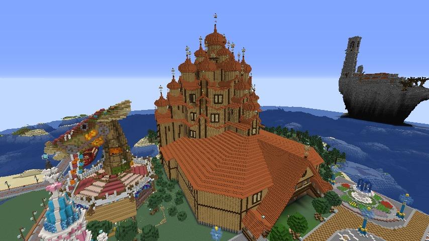 Minecrafterししゃもがマインクラフトでぷっこ村に新しい教会を作る2
