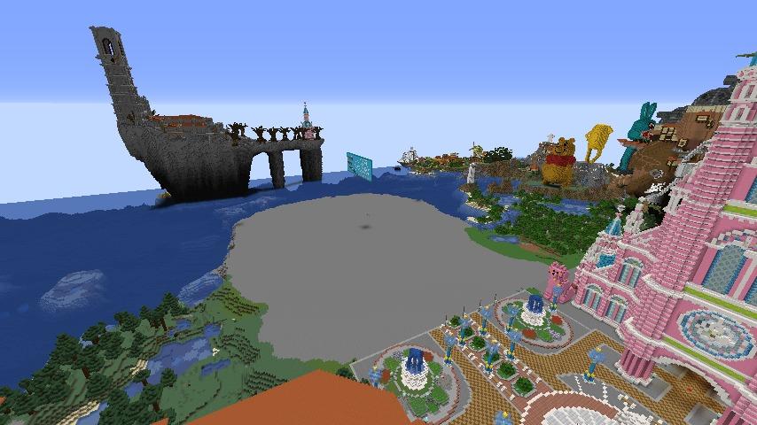 Minecrafterししゃもがマインクラフトでぷっこ村にピンクのモスクを作る3