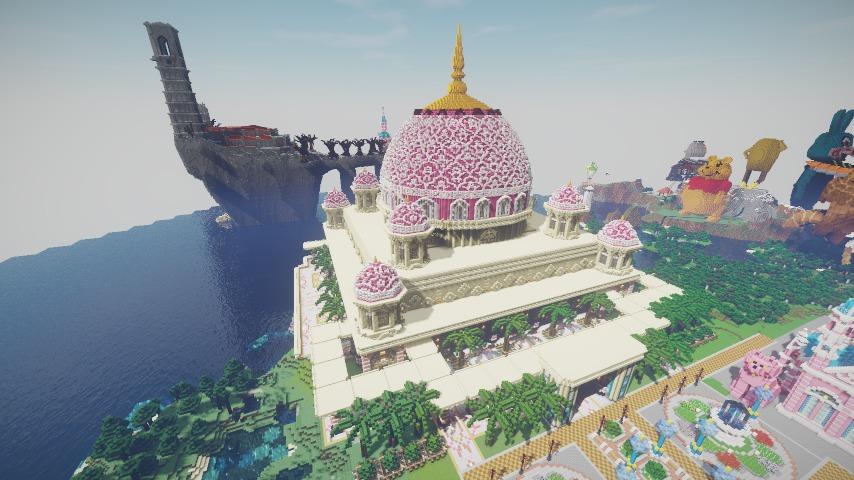 Minecrafterししゃもがマインクラフトでぷっこ村にピンクのモスクを作る9