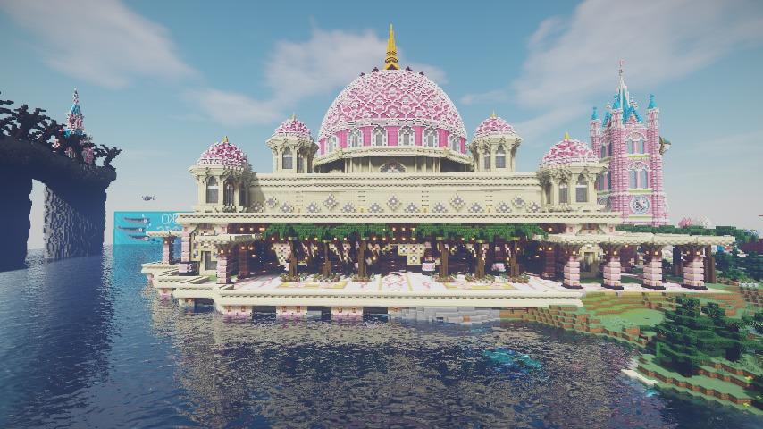 Minecrafterししゃもがマインクラフトでぷっこ村にピンクのモスクを作る10