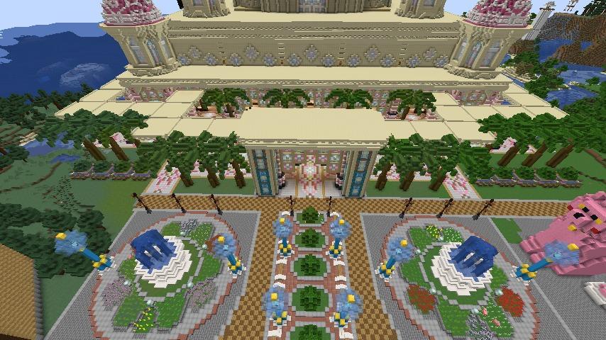 Minecrafterししゃもがマインクラフトでぷっこ村にピンクのモスクを作る5