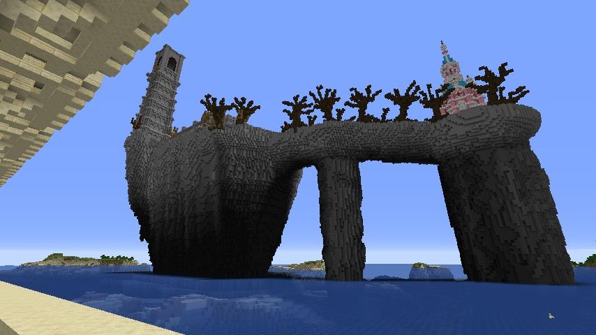 Minecrafterししゃもがマインクラフトでぷっこ村にピンクのモスクを作る7