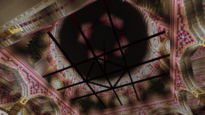Minecrafterししゃもがマインクラフトでぷっこ村にピンクモスクの内装を仕上げる1