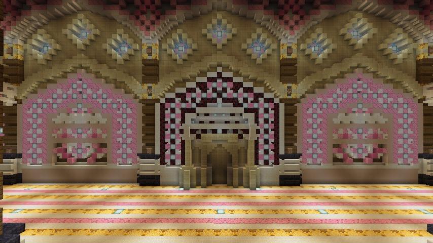 Minecrafterししゃもがマインクラフトでぷっこ村にピンクモスクの内装を仕上げる4