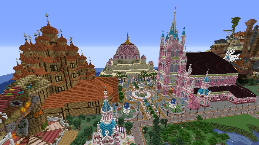 Minecrafterししゃもがマインクラフトでぷっこ村にピンクモスクの内装を仕上げる6