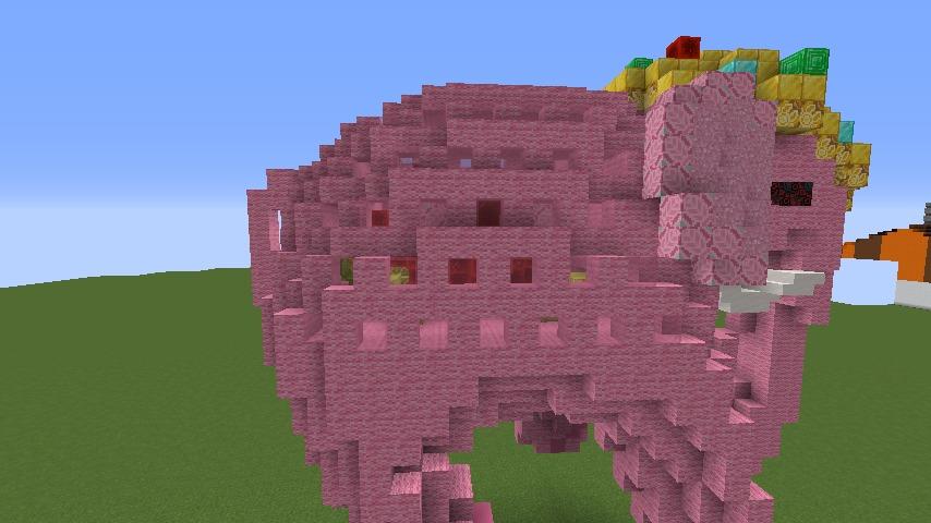 Minecrafterししゃもがマインクラフトでぷっこ村にピンクモスクの内装を仕上げる8