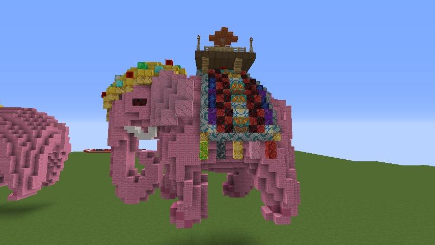 Minecrafterししゃもがマインクラフトでぷっこ村にピンクの象様区を作って観光振興する1