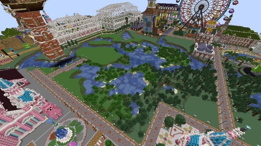 Minecrafterししゃもがマインクラフトでぷっこ村にピンクの象様区を作って観光振興する2