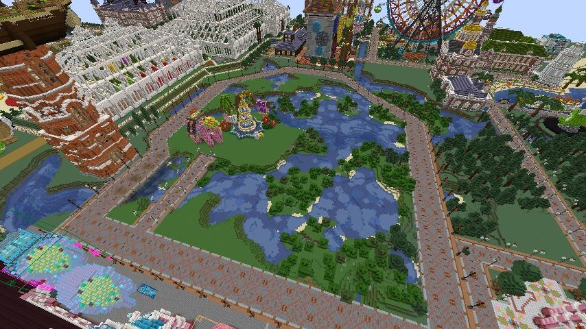 Minecrafterししゃもがマインクラフトでぷっこ村にピンクの象様区を作って観光振興する4